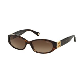 Coach Women HC8012 HOPE 500113 Havana Plastic Oval Sunglasses