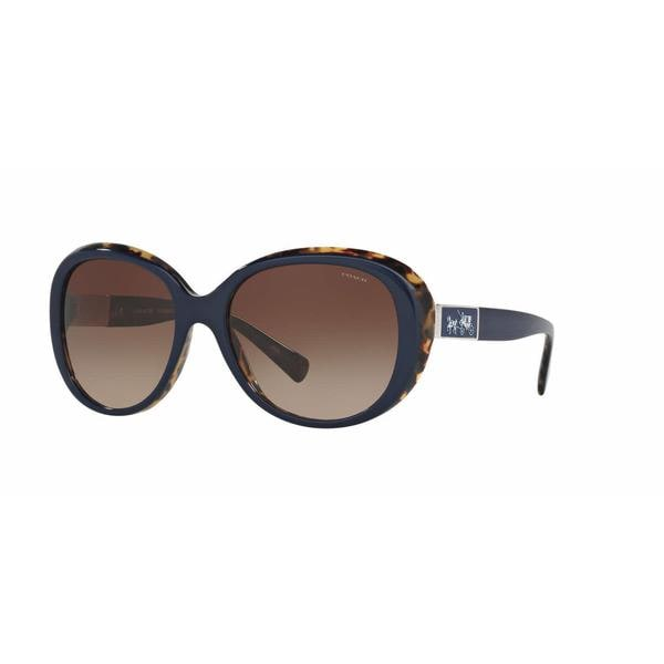 deef4411bde5 Shop Coach Women HC8120 L094 CARTER 537913 Blue Plastic Oval Sunglasses -  Free Shipping Today - Overstock - 13318948