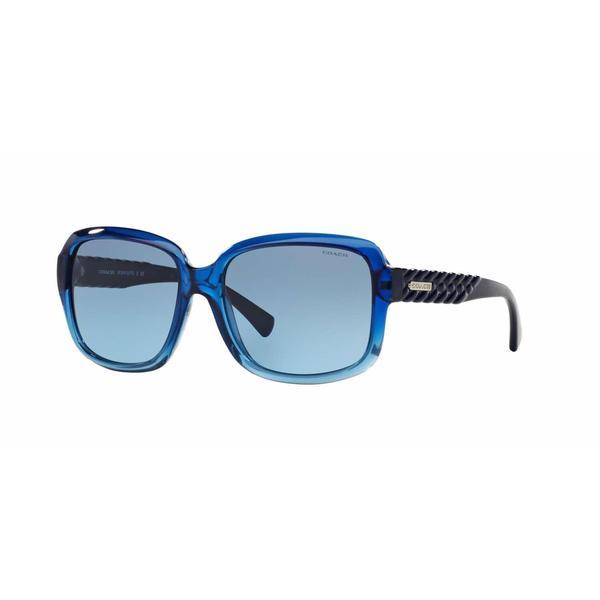 08fa2003ffdd Shop Coach Women HC8141 L112 529017 Blue Plastic Square Sunglasses - Free  Shipping Today - Overstock.com - 13318978