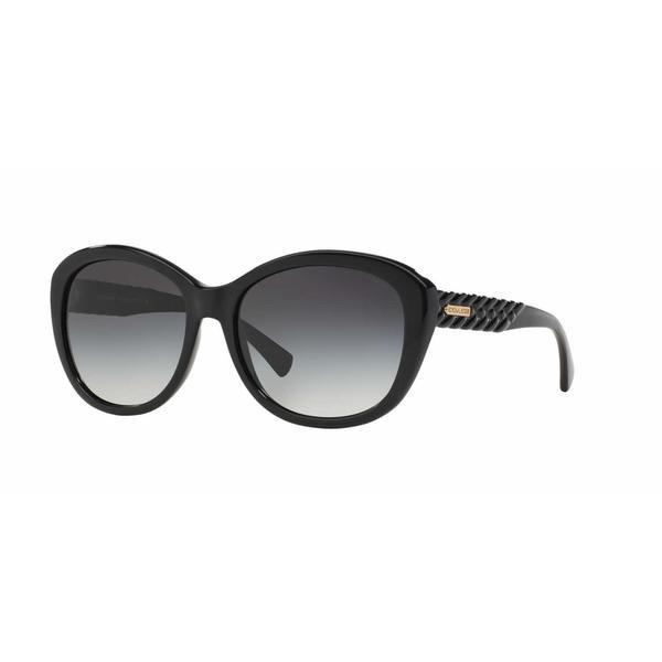 f6ea23e93f Shop Coach Women HC8142 L113 500211 Black Plastic Cat Eye Sunglasses - Free  Shipping Today - Overstock.com - 13318979