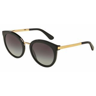 Dolce&Gabbana Women DG4268 501/8G Black Metal Round Sunglasses