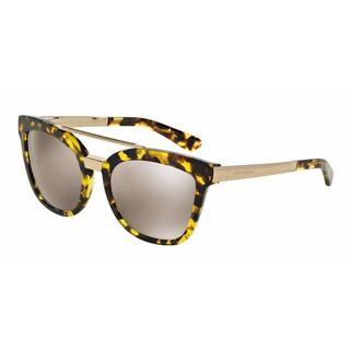 Dolce&Gabbana Women DG4269 29695A Yellow Metal Square Sunglasses