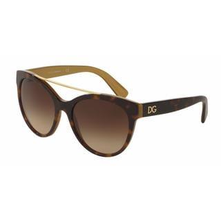 Dolce&Gabbana Women DG4280 295613 Plastic Plastic Round Sunglasses