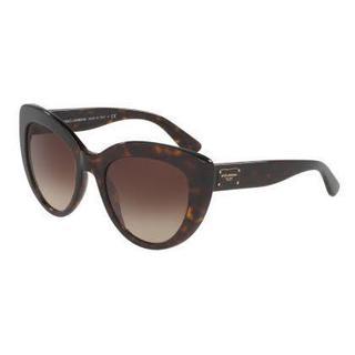 Dolce&Gabbana Women DG4287 502/13 Havana Cat Eye Sunglasses