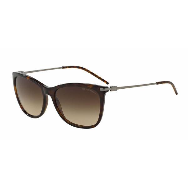cc39b94dc2d9 Shop Emporio Armani Women EA4051 502613 Havana Metal Square Sunglasses - Free  Shipping Today - Overstock - 13319064