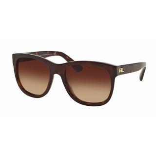 Ralph Lauren Women RL8141 50033B Havana Plastic Square Sunglasses