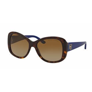 Ralph Lauren Women RL8144 5003T5 Havana Plastic Rectangle Sunglasses