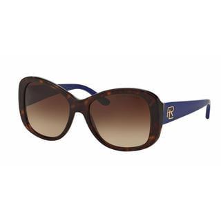 Ralph Lauren Women RL8144 500313 Havana Plastic Rectangle Sunglasses