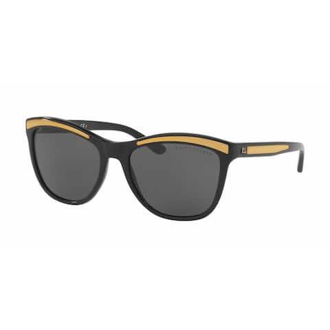Ralph Lauren Women RL8150 500187 Black Plastic Square Sunglasses