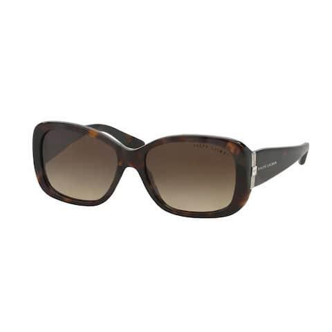 Ralph Lauren Women RL8127B 500313 Havana Plastic Rectangle Sunglasses