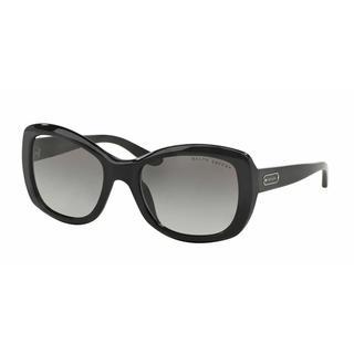Ralph Lauren Women RL8132 500111 Black Plastic Square Sunglasses