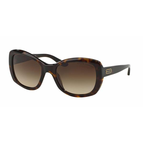 cda5c0abc6 Ralph Lauren Women RL8132 500313 Havana Plastic Square Sunglasses