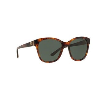 Ralph Lauren Women RL8143 501771 Havana Plastic Square Sunglasses