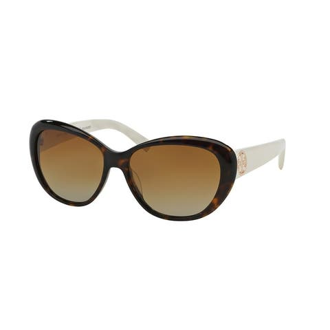 2832dc38d Tory Burch Women TY7005 TORY C03 1327T5 Havana Plastic Cat Eye Sunglasses