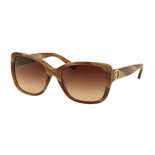 Tory Burch Women TY7086 153213 Honey Plastic Rectangle Sunglasses