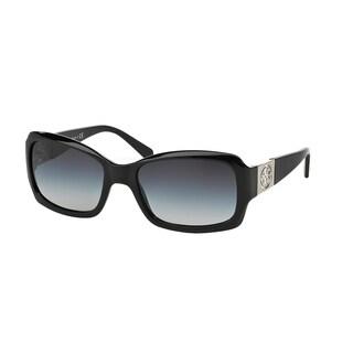 Tory Burch Women TY9028 50111 Black Plastic Rectangle Sunglasses