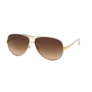 Tory Burch Women TY6035 301913 White Metal Cateye Sunglasses