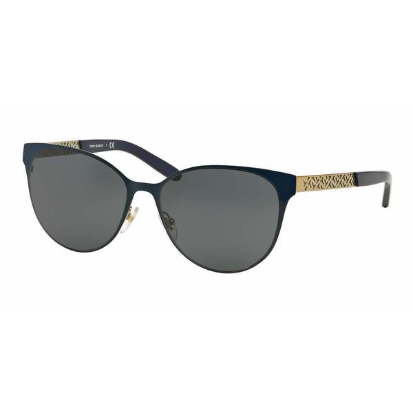d8e352a0857ad Shop Tory Burch Women TY6046 305887 Blue Metal Cat Eye Sunglasses - Free  Shipping Today - Overstock - 13319199