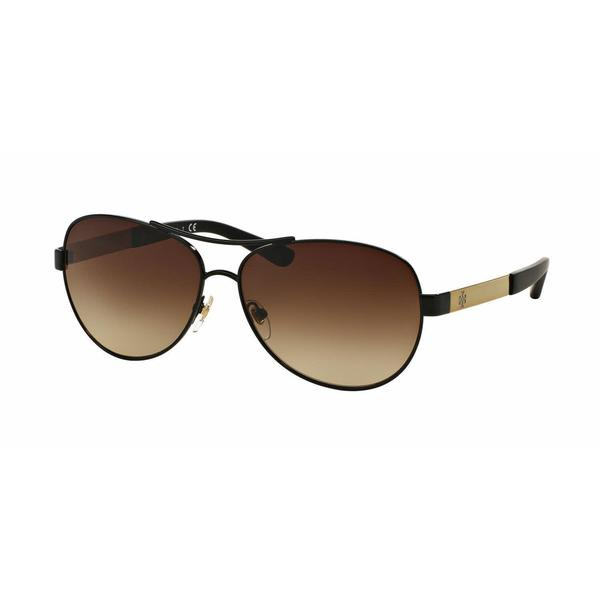 4175e3693808d Shop Tory Burch TY6047 310013 Womens Black Gold Frame Brown Cateye Lens  Sunglasses - Free Shipping Today - Overstock - 13319206