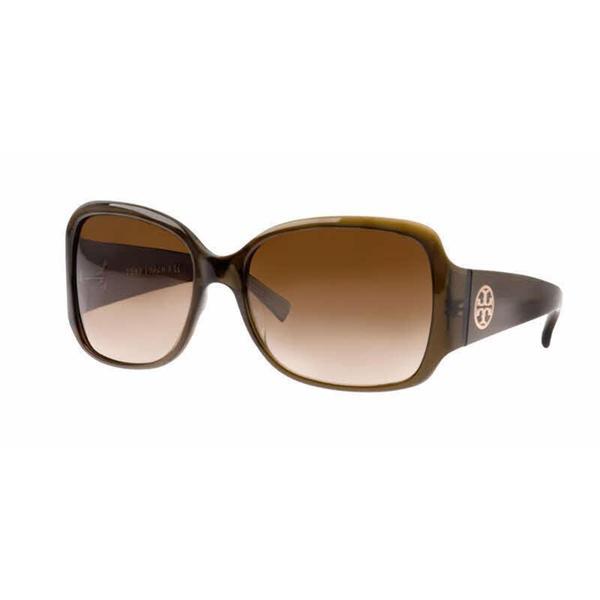 fa94aecb6e Shop Tory Burch Women TY7004 TORY C04 519 12 Green Plastic Square Sunglasses  - Free Shipping Today - Overstock.com - 13319211
