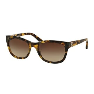 Tory Burch Women TY7044 504/13 Havana Plastic Square Sunglasses
