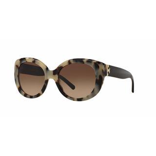 Tory Burch Women TY7076 156713 Havana Plastic Cat Eye Sunglasses
