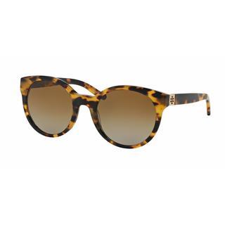 Tory Burch Women TY7079 1474T5 Havana Plastic Round Sunglasses