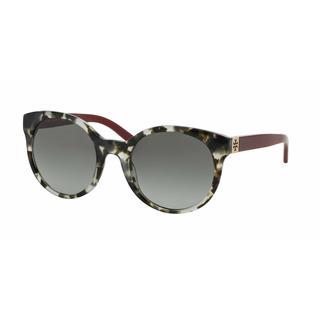 Tory Burch Women TY7079 139411 Havana Plastic Round Sunglasses