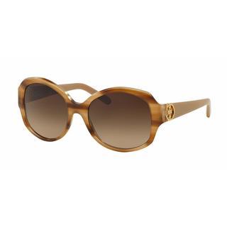 Tory Burch Women TY7085 147813 Light Brown Plastic Irregular Sunglasses