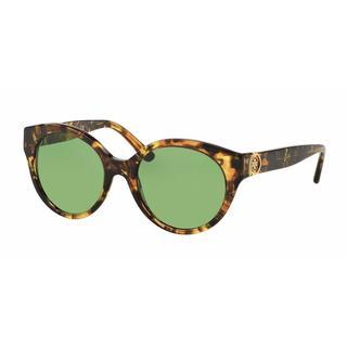Tory Burch Women TY7087 314402 Havana Plastic Round Sunglasses