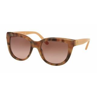 Tory Burch Women TY7088 152714 Brown Plastic Irregular Sunglasses