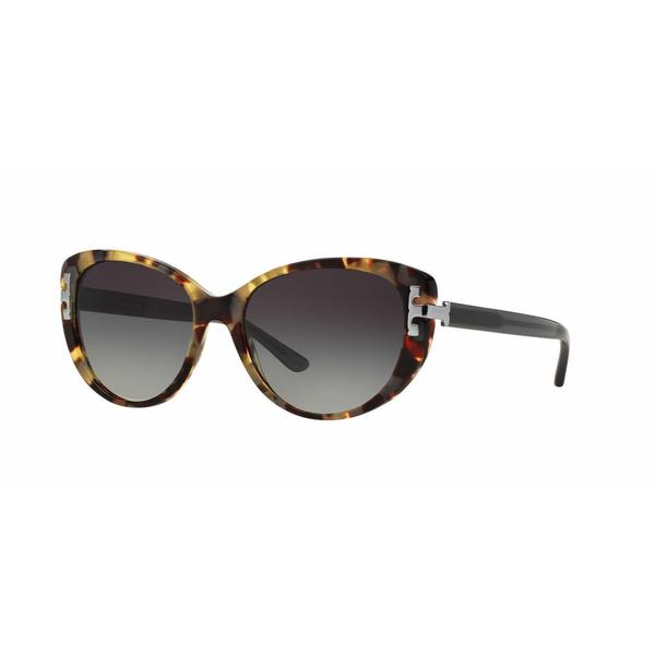 Tory Burch Women TY7092 155011 Havana Plastic Cat Eye Sunglasses