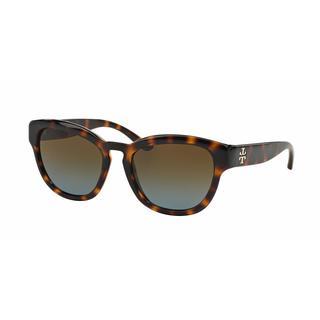 Tory Burch Women TY9040 13781F Havana Plastic Square Sunglasses