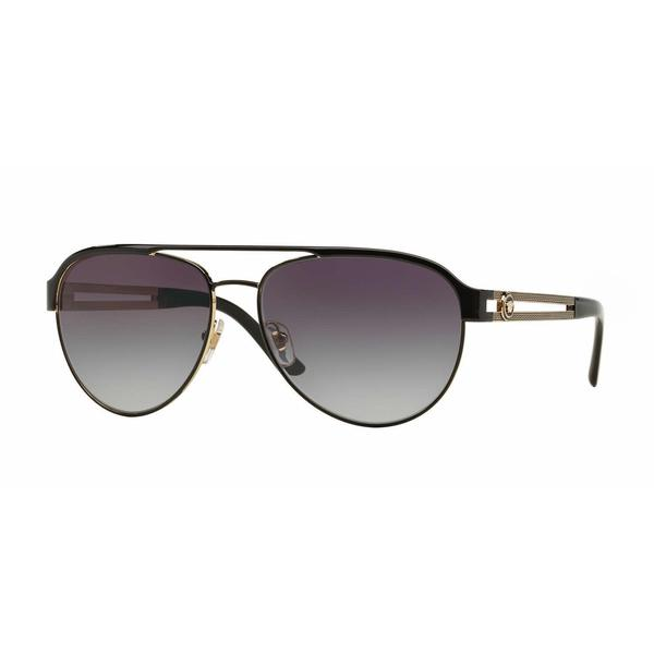 5c5fbf929c0 Shop Versace Women VE2165 13718G Black Metal Cateye Sunglasses - Free  Shipping Today - Overstock - 13319388