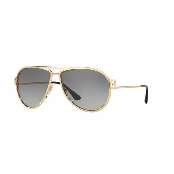 f0295ff4de Shop Versace Women VE2171B 100211 Gold Metal Cateye Sunglasses ...