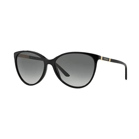 Versace Women VE4260 GB1/11 Black Metal Cateye Sunglasses