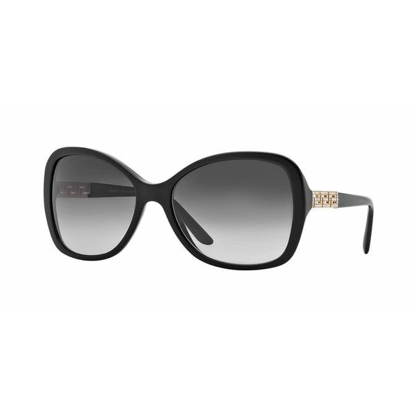 7d21d73c8afd Shop Versace Women VE4271B GB1 8G Black Plastic Rectangle Sunglasses - Free  Shipping Today - Overstock - 13319412
