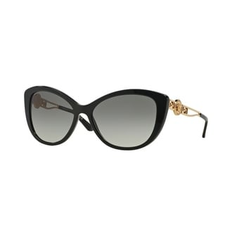 Versace Women VE4295 GB1/11 Black Metal Cat Eye Sunglasses