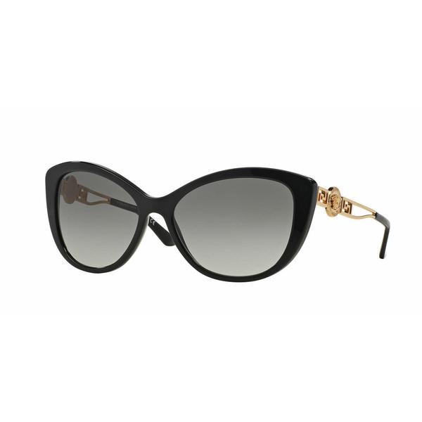 3ec00fd080b Shop Versace Women VE4295 GB1 11 Black Metal Cat Eye Sunglasses - Free  Shipping Today - Overstock - 13319435
