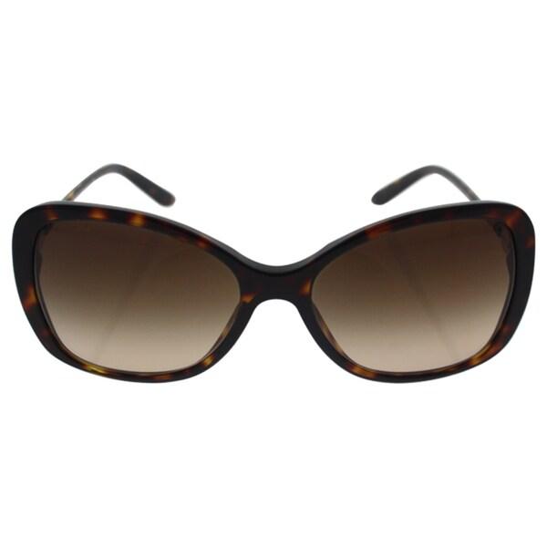 90c1142396 Shop Versace Women VE4303 108 13 Brown Metal Rectangle Sunglasses ...