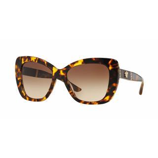 Versace Women VE4305QA 514813 Brown Rectangle Plastic Sunglasses