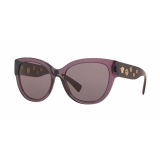 Versace Women VE4314 50297N Violet Plastic Rectangle Sunglasses