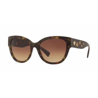Versace Women VE4314A 518313 Black Plastic Rectangle Sunglasses
