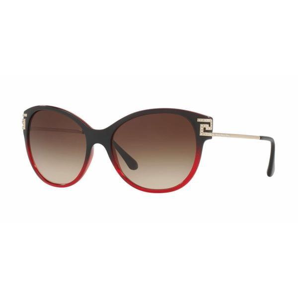 d1e749e186 Shop Versace Women VE4316B 507513 Red Metal Cat Eye Sunglasses - Free  Shipping Today - Overstock - 13319469