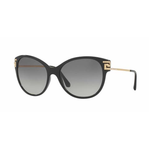Versace Women VE4316B GB1/11 Black Metal Cat Eye Sunglasses