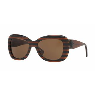 Versace Women VE4317 518773 Brown Plastic Rectangle Sunglasses
