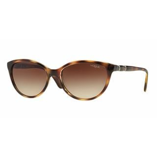 Vogue Women VO2894SB 191613 Havana Plastic Oval Sunglasses