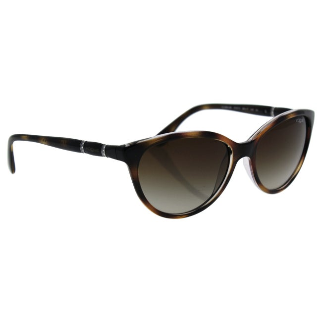 d30b7f2329 Shop Vogue Women VO2894SB 191613 Havana Plastic Oval Sunglasses - Free  Shipping Today - Overstock - 13319503