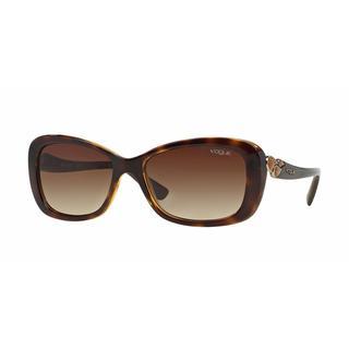 Vogue Women VO2917S W65613 Havana Plastic Rectangle Sunglasses