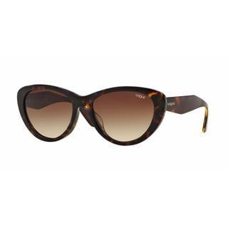 Vogue Women VO2990SF W65613 Havana Plastic Cat Eye Sunglasses